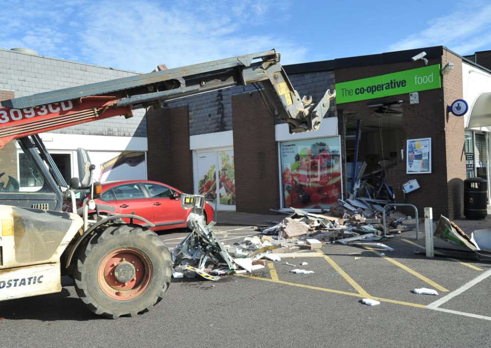Co-operative store at Market Deeping the cash machine was ripped out of the wall by thieves. EMN-140110-162444009