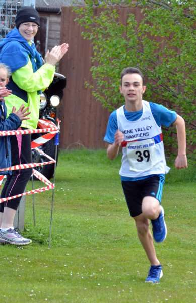 Fun run winner Codi-Leigh Holland-Middleton, of Nene Valley Harriers