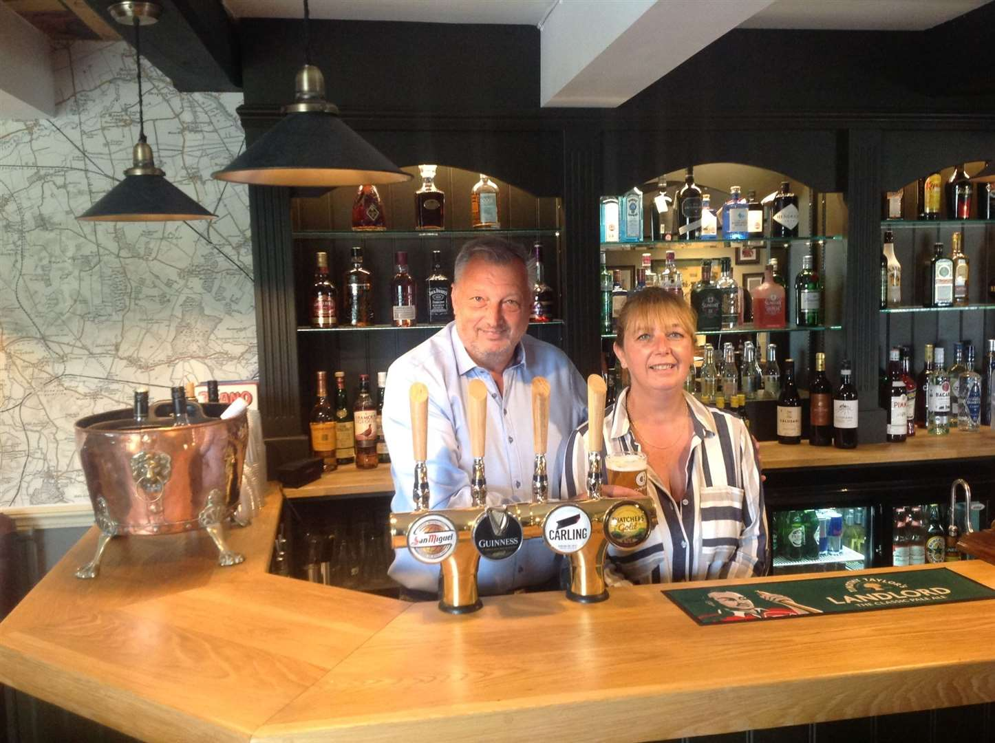 Mark and Kate Symes at the Exeter Arms in Barrowden