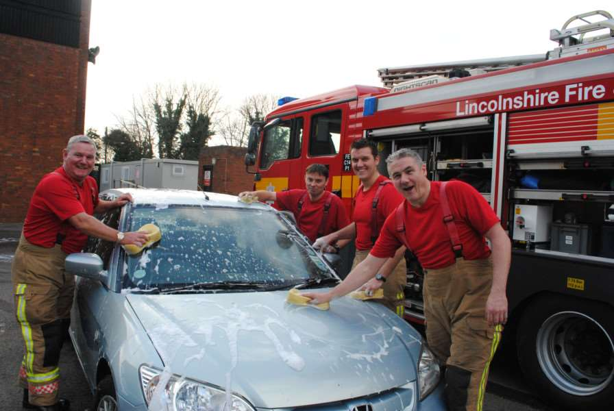 Firefighters across the county will once again be scrubbing cars for charity.
