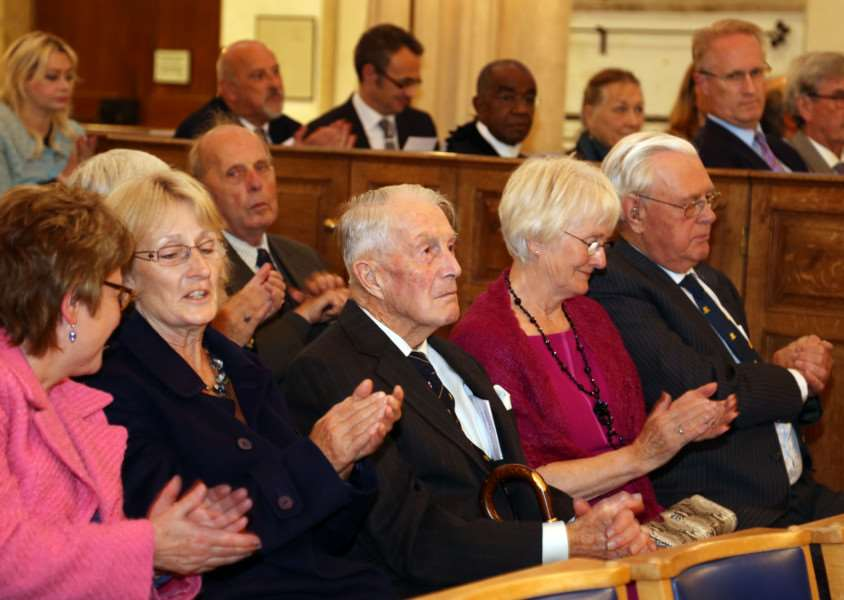 Appeal Launch: Fotheringhay: St Mary and All Saints Church 'The Friends of Fotheringhay Church appeal launched by Appeal Patron HRH The Duke of Gloucester. ''Wednesday September 16 2015 NNL-150916-222835009