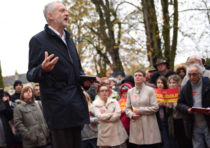 Jeremy Corbyn shares his vision for the NHS and rural communities in Sleaford. Photo: Toby Roberts EMN-161120-165108001