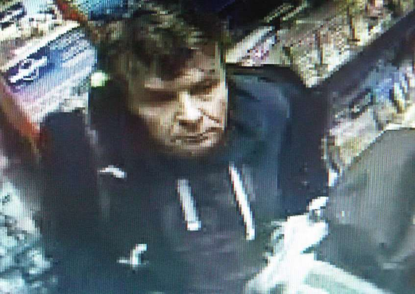 The man police want to speak to about the theft of two magazines from WH Smith in Stamford on May 29, 2015. Incident 303 of May 39. Photo: Lincolnshire Police. EMN-151006-105808001