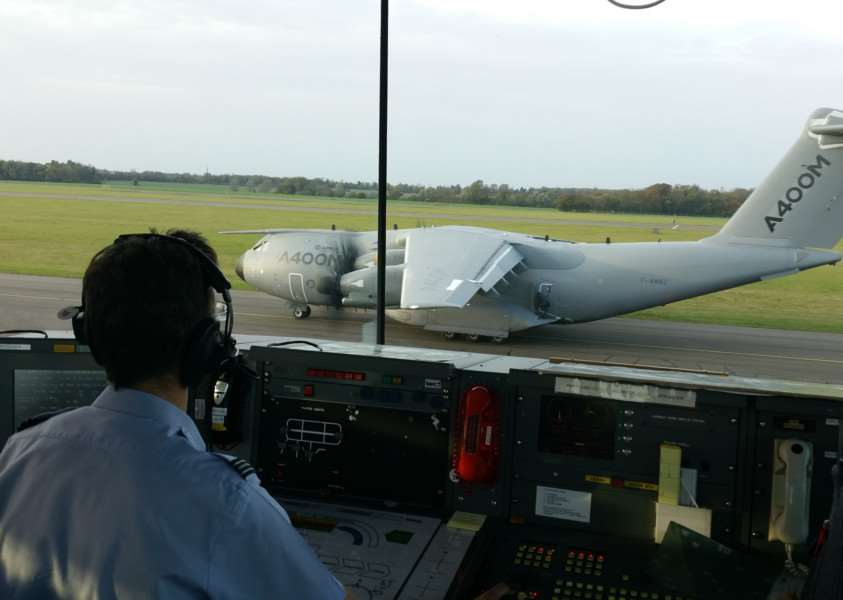 The filming of Mission Impossible 5 at RAF Wittering