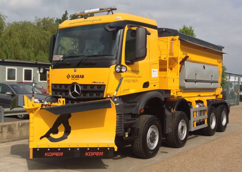 The county council's new generation gritter - 'The Beast'. EMN-160621-102346001