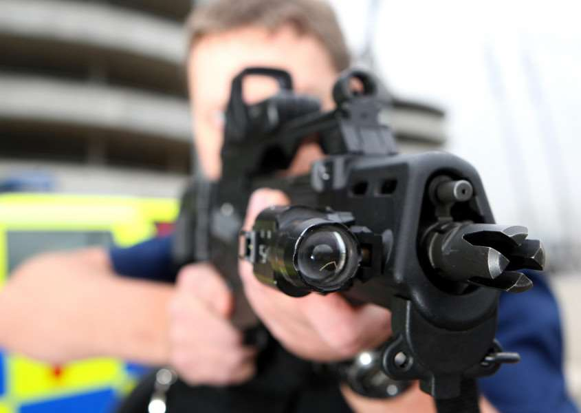 Armed police response officer: Credit PA ENGYPN00320130527114357