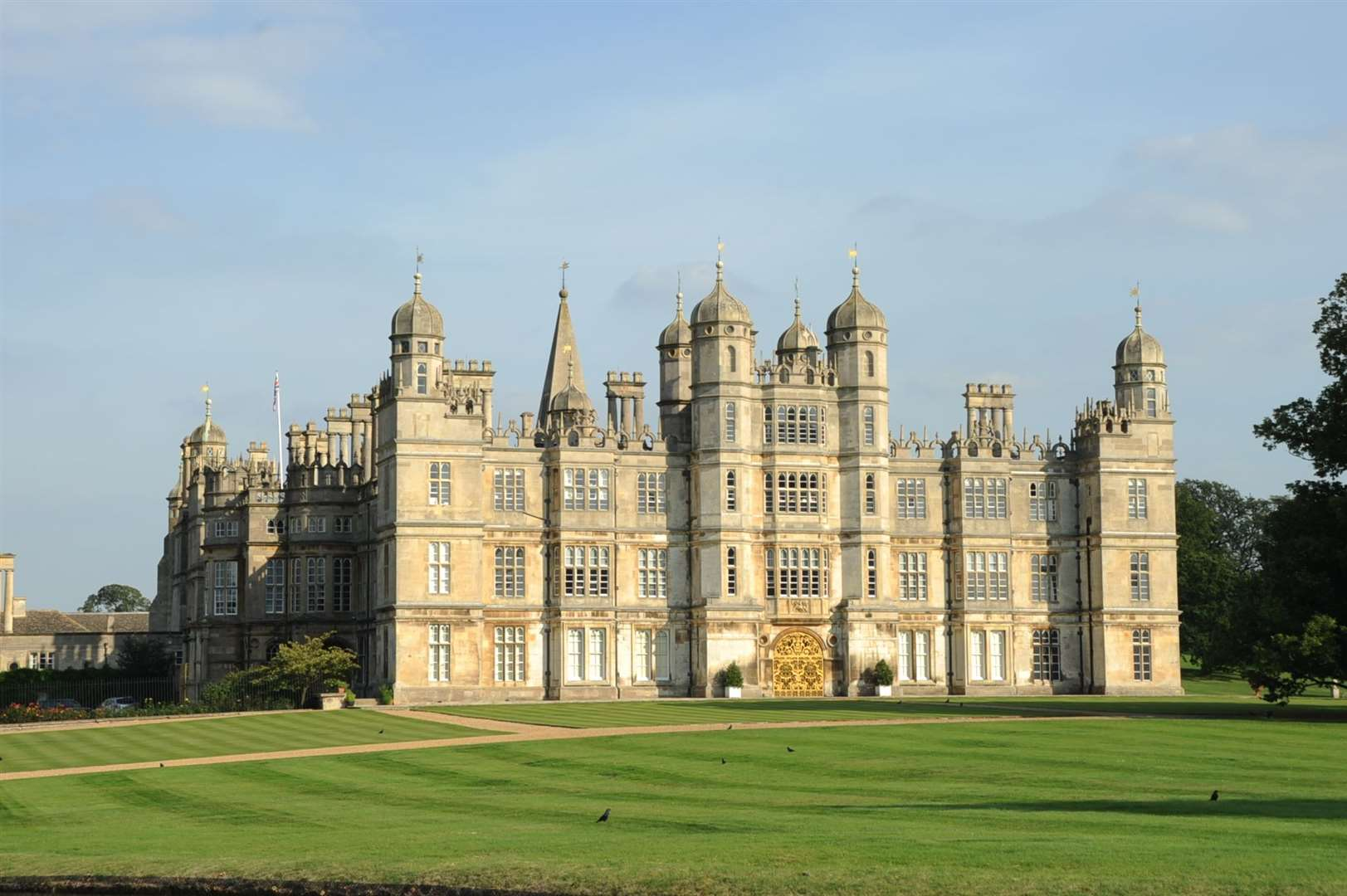 Burghley House.
