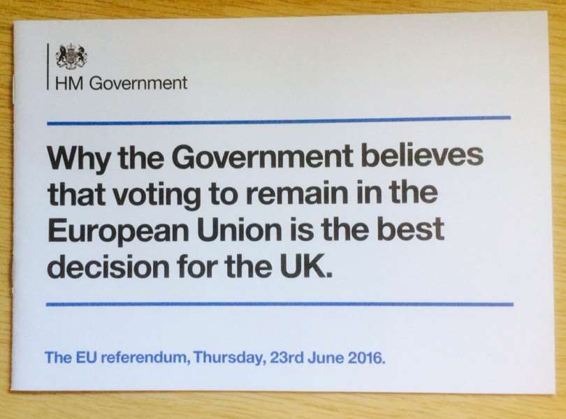 The leaflet in question