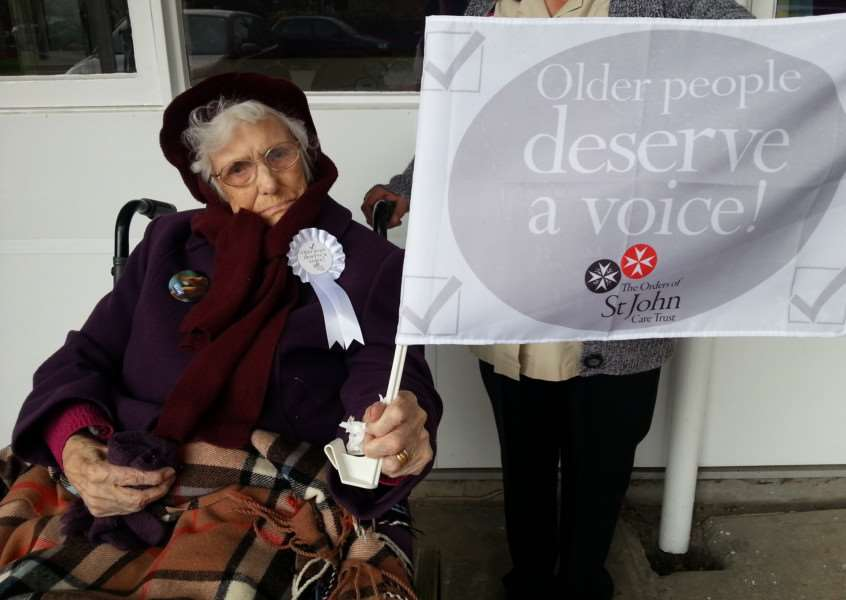 The 104-year-old was determined to vote