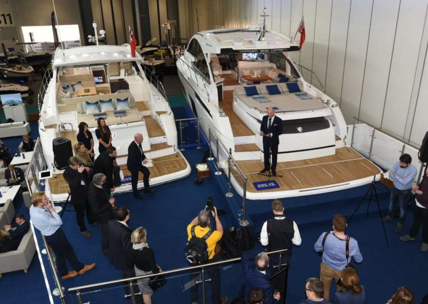 Fairline Yachts on show at the London Boat Show.