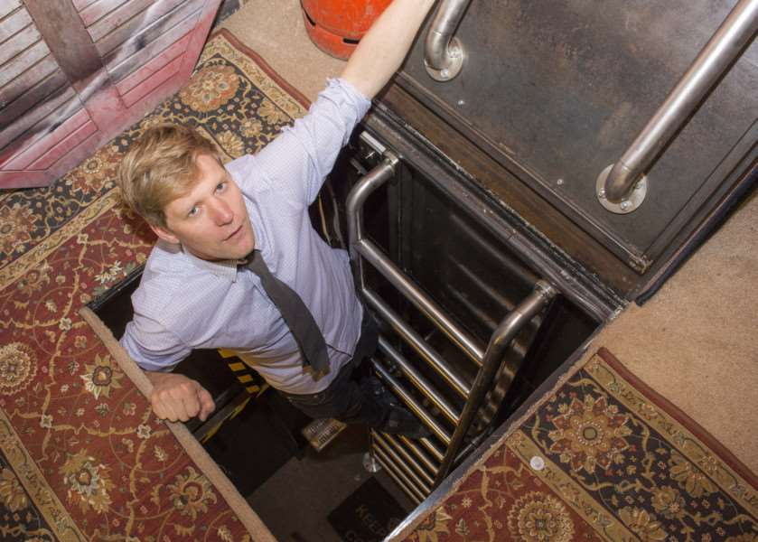 Inventor Colin Furze reveals the secret hatch leading to his bunker
