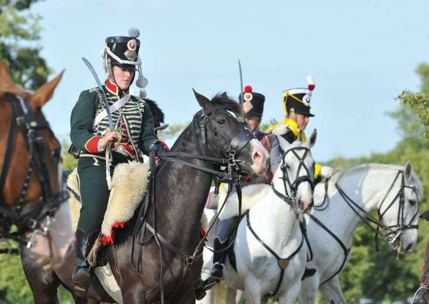 Napoleonic cavalry re-enactor at the Burghley House Battle Proms EMN-150407-215055009