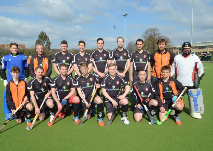Bourne Deeping hockey team (back) Shane Carlton, Andy Briault, Stuart Biggs, Phil Arnold, Richard Collins, Tom Richardson, Andy Williams, Alex Glover, Joe Wray. (front) Jonny Allen, Andrew Kind, James Sharp, Chris Clarkson, Aaron Dawson, Andrew Fletcher and Simon Thomas EMN-160320-173354009