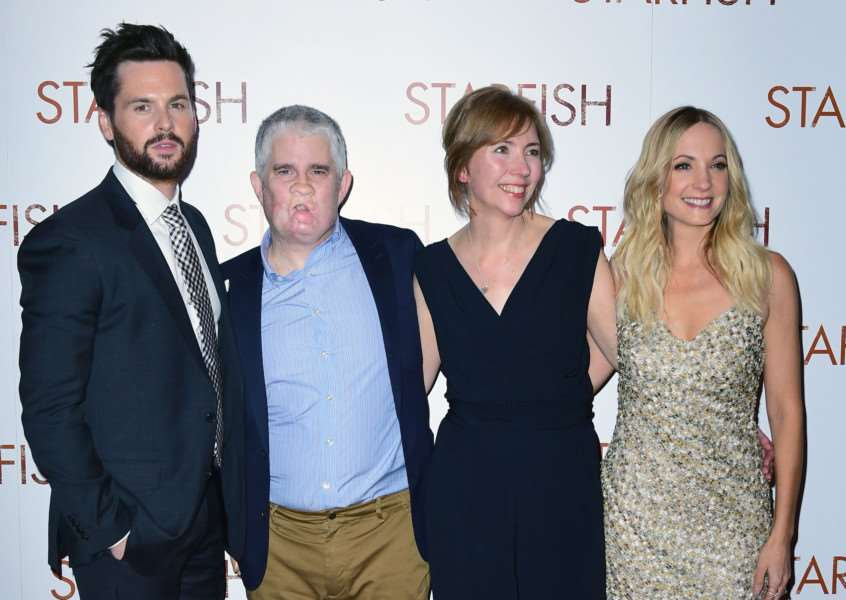 Tom Riley, Tom Ray, Nicola Ray and Joanne Froggatt attending the UK premiere of Starfish at the Curzon Mayfair cinema in London. PRESS ASSOCIATION Photo. Picture date: Thursday 27th October, 2016. Photo credit should read: Ian West/PA Wire. EMN-161028-130946001