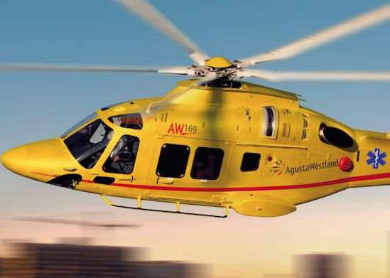 An Agusta Westland AW169 helicopter like the one set to become the county's new air ambulance aircraft. EMN-151210-142209001