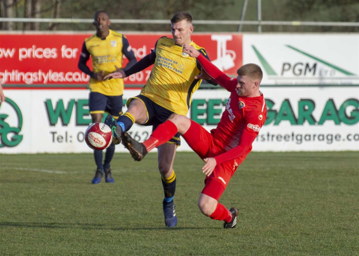 Match action from the Daniels' clash with Frickley on Saturday. Photo: Lee Hellwing (7072872)