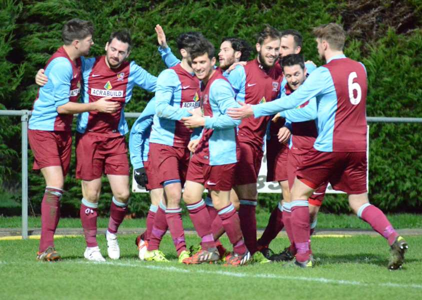 Celebrations for Deeping Rangers who are unbeaten in 10 home league games