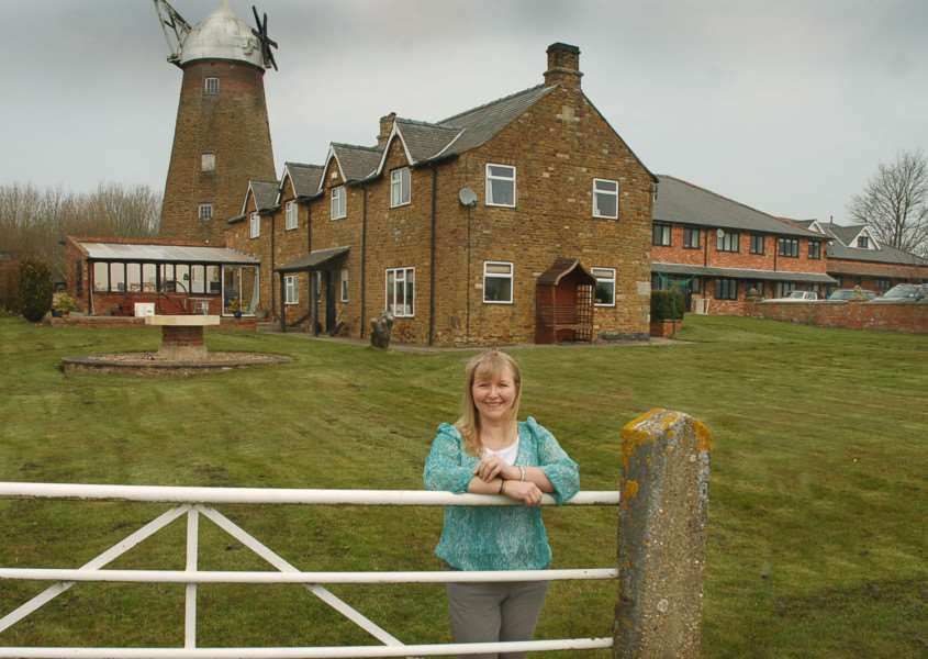 Sarah-Jane Fletcher at Wymondham Windmill, which she owns with husband Vincent PHOTO: Tim Williams EMN-161017-120444001