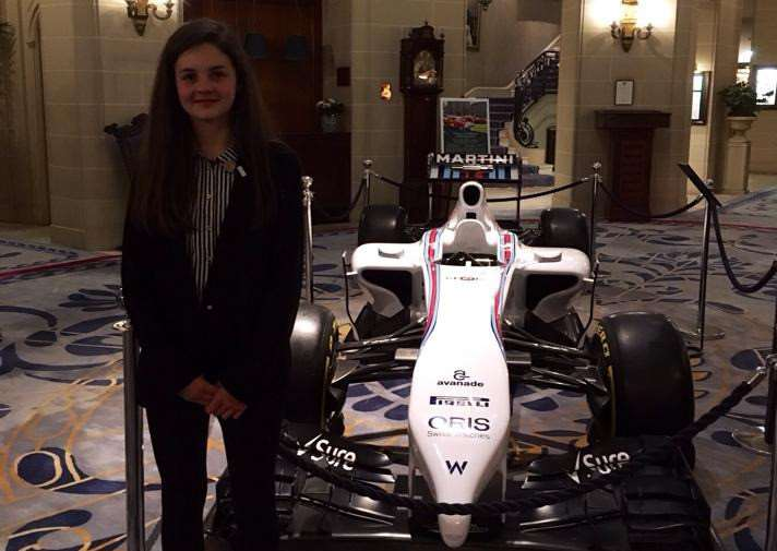GRAND PRIX DREAMS: Abbi Pulling sees her future at London's RAC Club.