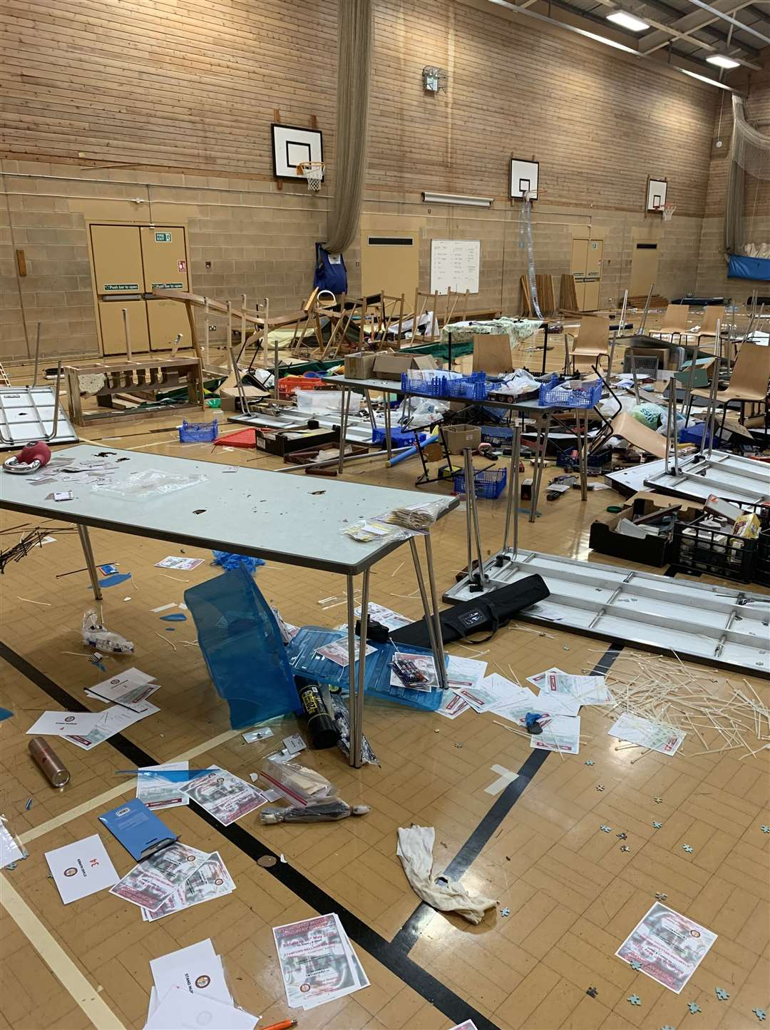 Destruction in the school hall (10581566)