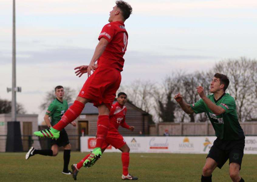 Action from Stamford AFC v Leek Town. Photo: Geoff Atton EMN-161122-092815001
