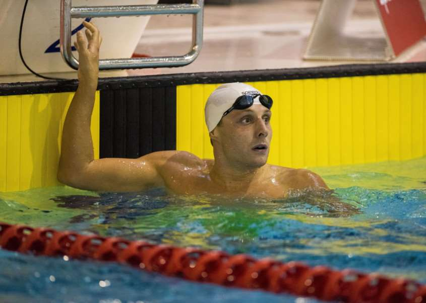 Adam Mallett wins the men's open 200m butterfly final during day two of the British Swimming Championships at Tollcross International Swimming Centre, Glasgow. Picture: Craig Watson/PA Wire