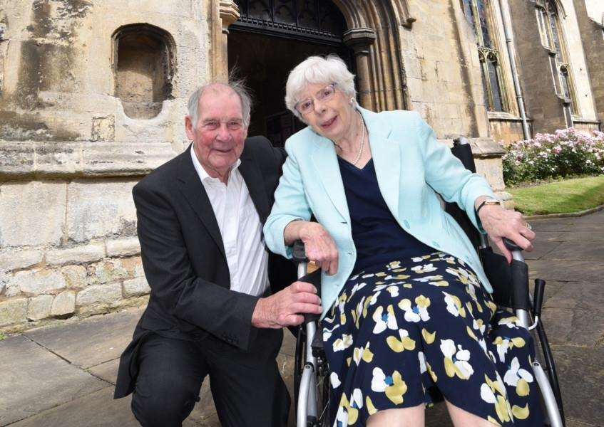 Mick and Shirley Wicks pictured during their return to St Martin's Church