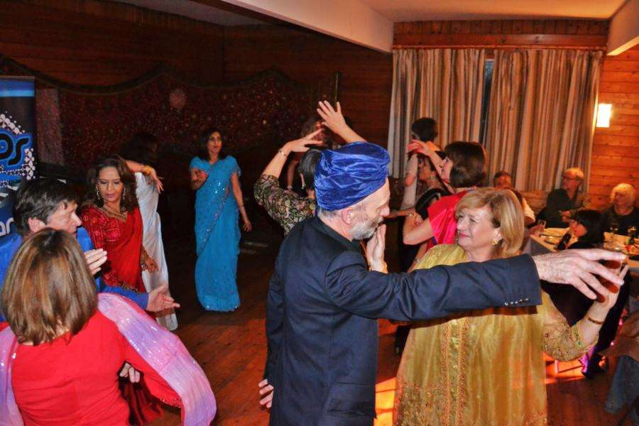 Visitors dancing at a previous Bollywood-themed fundraiser in Whissendine