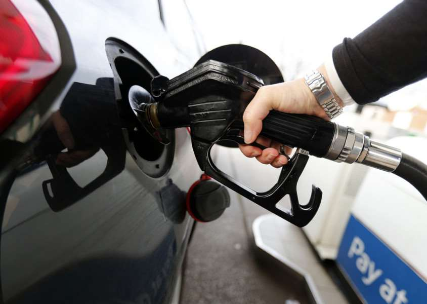 Diesel fuel pumped into a car as British supermarkets have slashed the price of diesel for the second time in a week. PRESS ASSOCIATION TRANSPORT_Fuel_133625.JPG