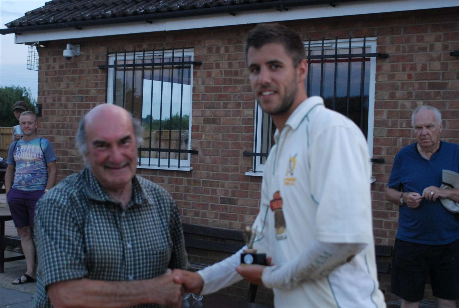 Man of the match Danny Dumford with Terry Rawlings. (3102804)