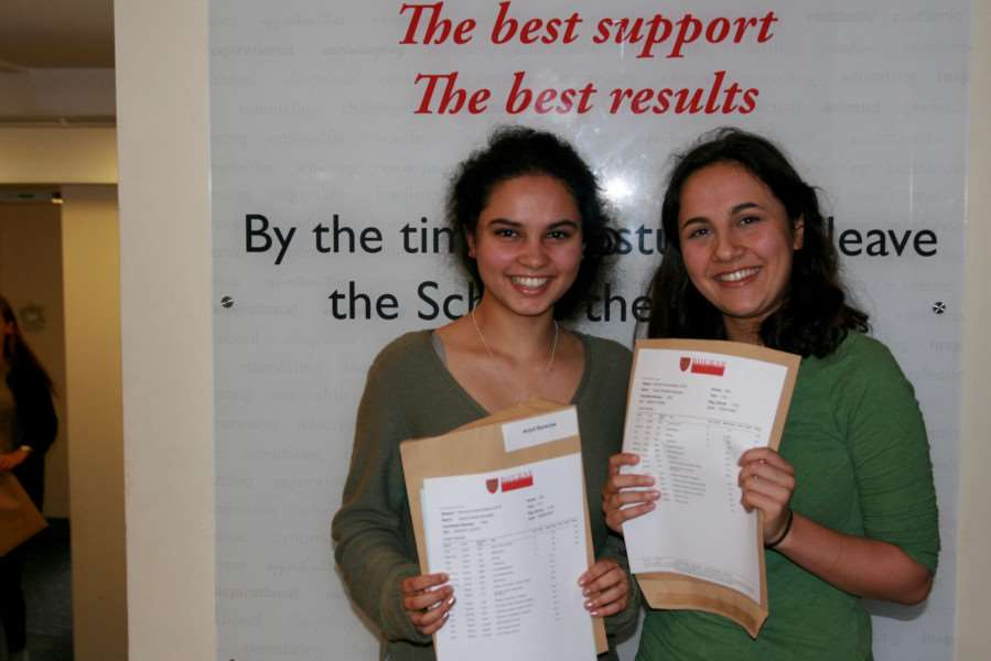 Twins Anjuli and Amber Bannerjee celebrating double Oxbridge success. ANL-160818-122826001
