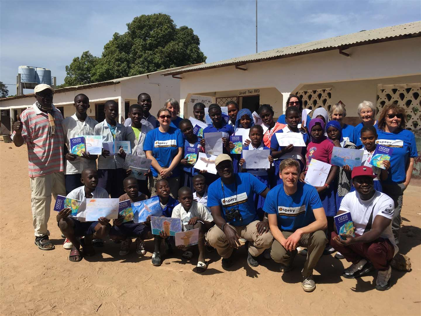 The Rutland Osprey Leadership Foundation group at Tanji School in The Gambia Photo: Osprey Leadership Foundation