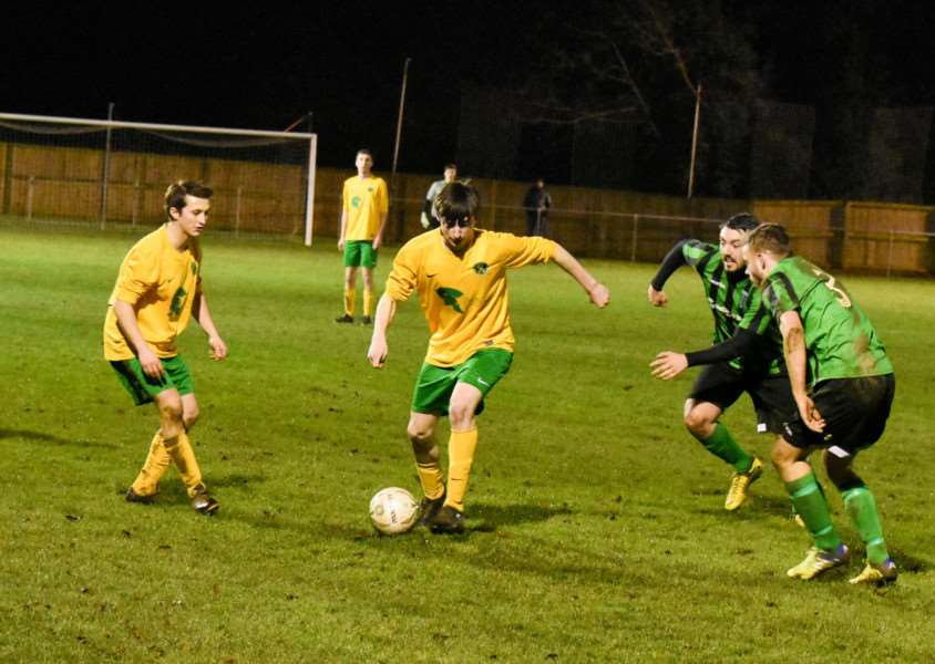 Action from Oakham v Blackstones in the UCL Division One. Photo: Alan Walters
