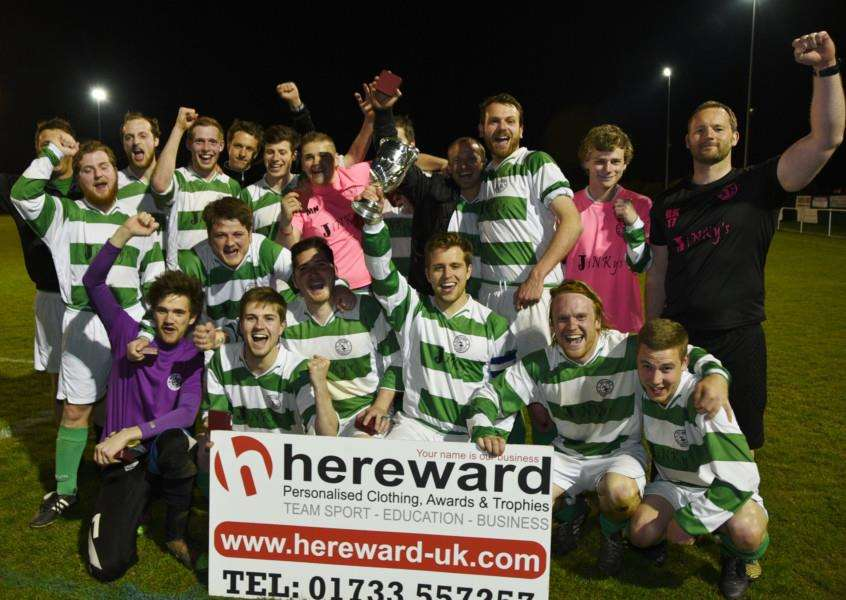 Rutland DR FC winners of the PFA Minor Cup Final at Chestnut Avenue. EMN-150422-230240009