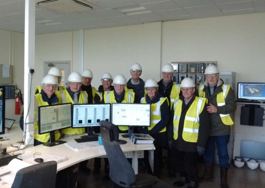 Bourne U3A Science and Technology Group visit to Sleaford Renewable Energy plant.