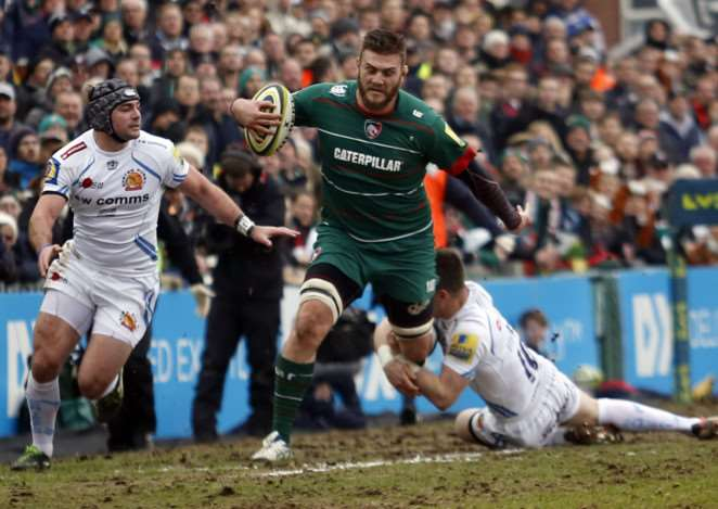 Leicester Tigers v Exeter Chiefs. Tiger Images EMN-150317-140531001