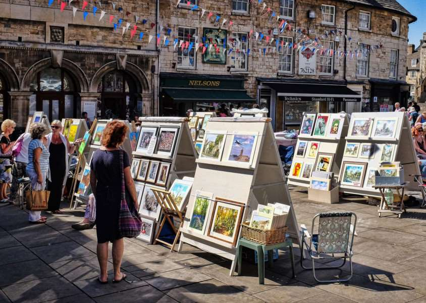 Artisans on Friday in Red Lion Square, Stamford