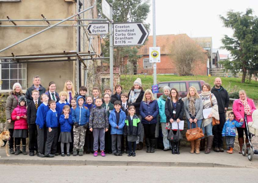 Members of the Glenside school transport campaign, who are calling for Lincolnshire County Council to review its policy. Campaigners come from Castle Bytham, Little Bytham, Creeton and the surrounding area. EMN-150331-162320001