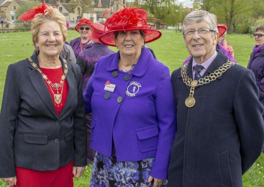 The Red Hat Society meets on the Meadows Photo: Lee Hellwing