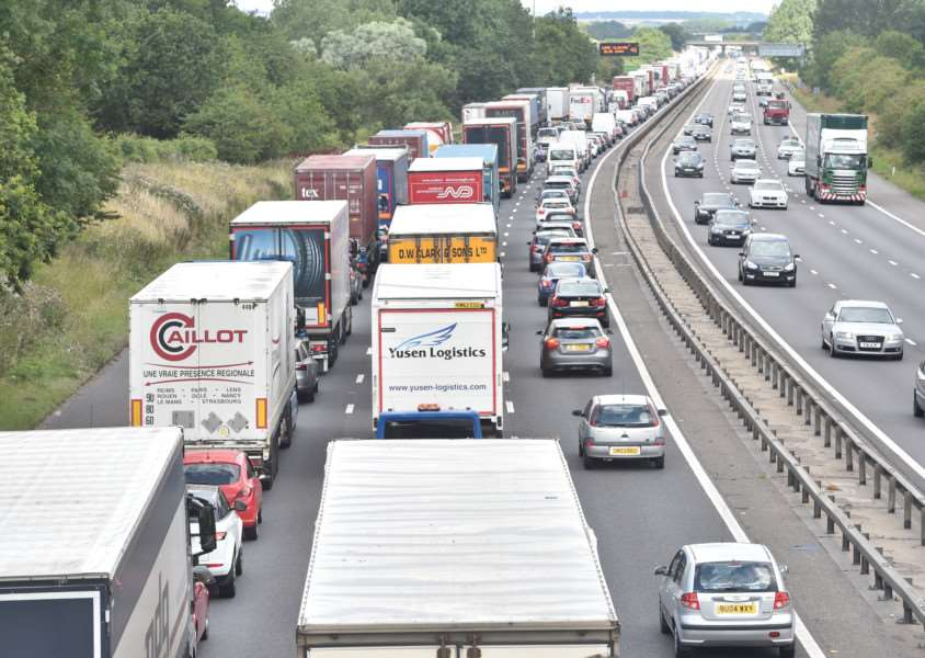 M1 was closed while emergency services arrived on scene
