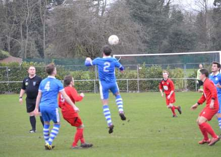 Action from Bourne Town v Lutterworth Athletic. Photo: Bob Lambert. EMN-160126-094345001