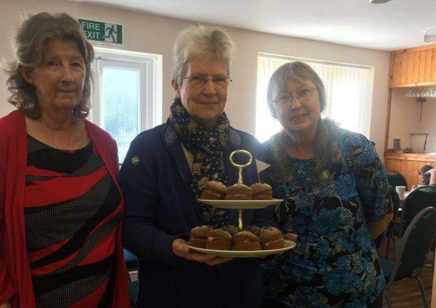 Carol Mason, Sue Dorricott-Leslie and Anne Williams at Rippingale Village Hall EMN-150925-144230001