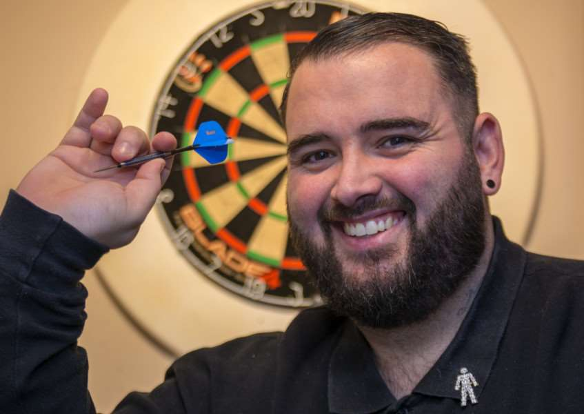 Darts player and charity event organiser Marc Palmer, from Belmesthorpe. Photo: Lee Hellwing
