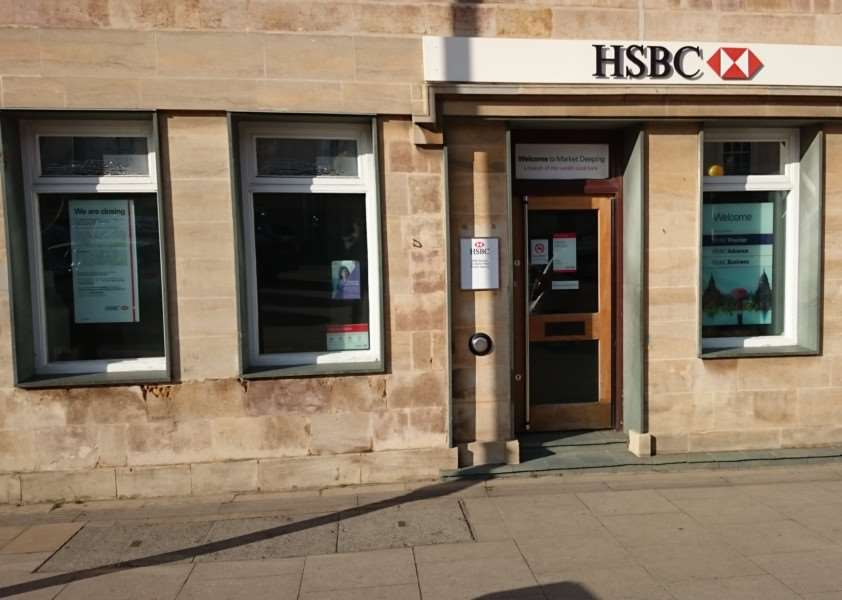 HSBC in Market Place, Market Deeping, which is to close on August 28, 2015. Photo by Adam Brookes.