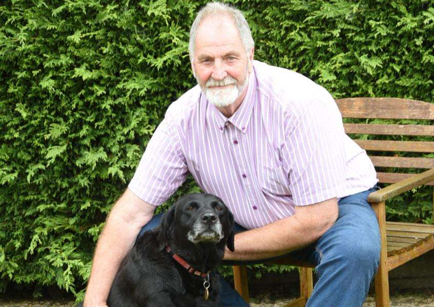 Retired dog warden Barry Briggs at home at South Witham with his dog Ozzy EMN-150921-185716009