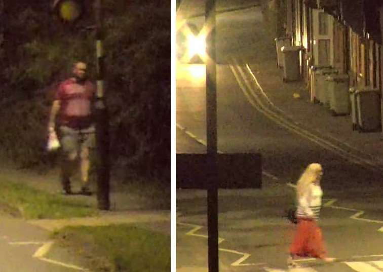 CCTV images of the people police want to trace