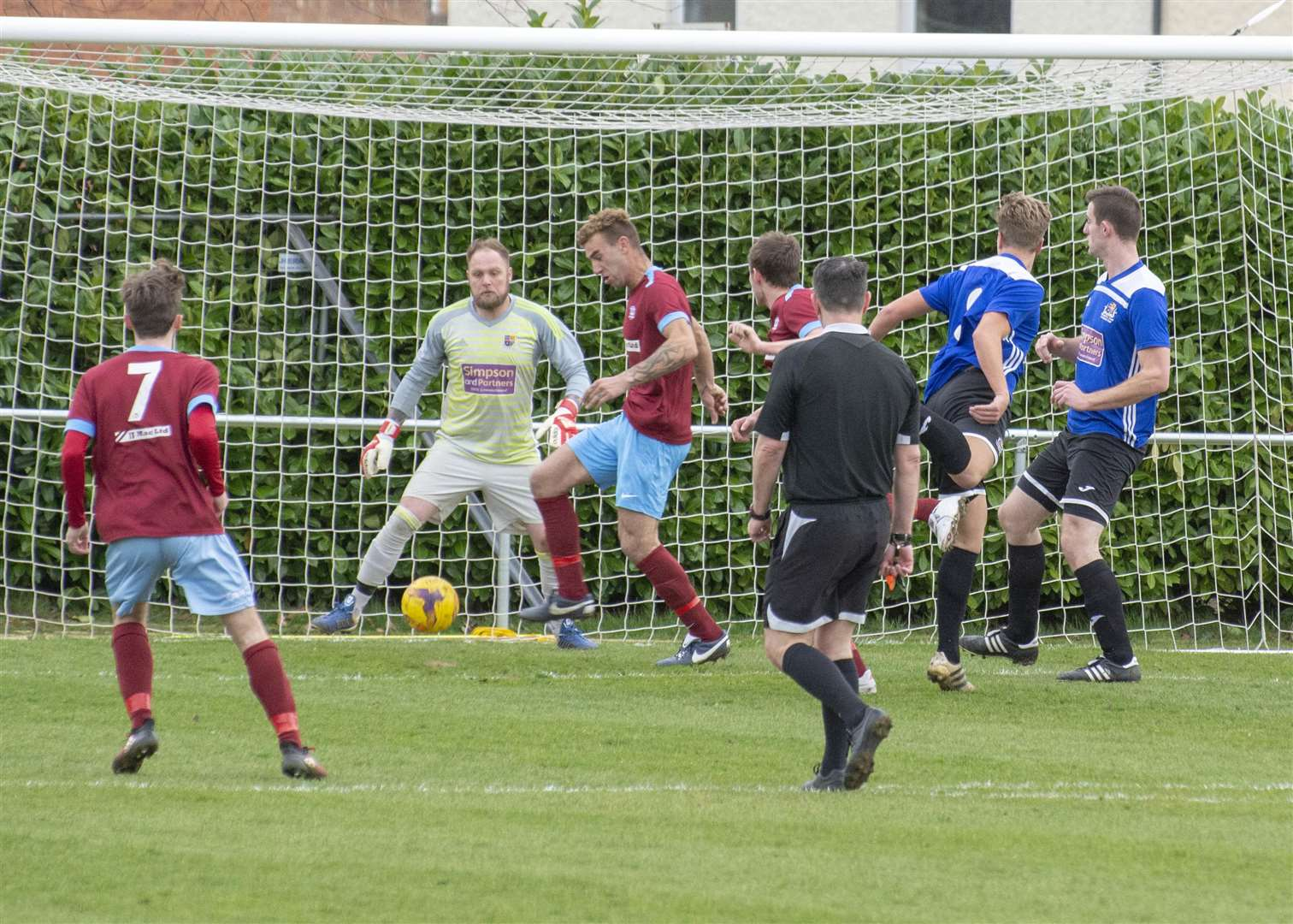 Jake Mason (on the ball) misses Bourne's trip to Sileby on Saturday. (7632812)