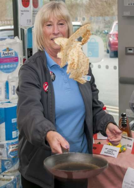 Pancake day fun at Bourne's Elsea Park Co-op