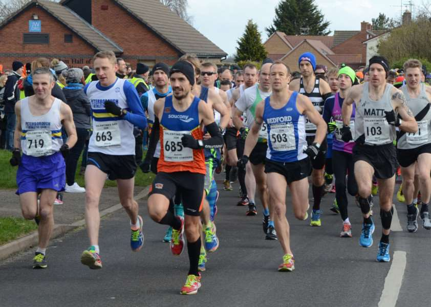 Action from the Striders 30k race at Stamford