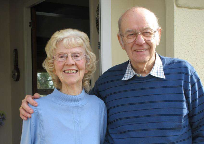 Derek and Dorothy Robinson of Lodge Park, Langham, celebrating their diamond wedding anniversary